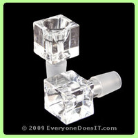 Weed Star Cube Bowl - Clear - Online Shop