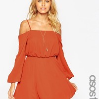 ASOS Tall | ASOS TALL Cold Shoulder Skater Dress at ASOS