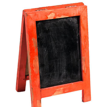 Mini Two Sided Free Standing Wood Frame Chalkboard for Counter - 9-in Red