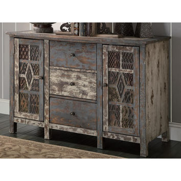 Crestview Collection Naranja Distressed Sideboard