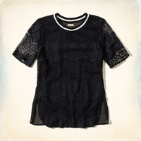 Abalone Cove Lace Sporty Tee