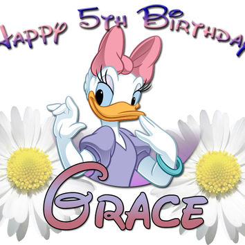 Personalized Custom Birthday T-shirt Disney Daisy Duck #2