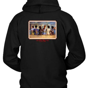 CREYH9S Pink Floyd Back Catalogue Retro Design Hoodie Two Sided