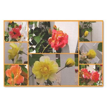 "Rose Collage Josephs Coat-Tissue Wrap Paper 10"" X 15"" Tissue Paper"