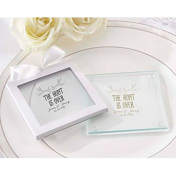 Personalized Glass Coaster - The Hunt Is Over (Set of 12)