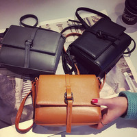 Retro Women Leather Shoulder Bag Female Fashion Casual Crossbody Messenger Bags Chic Handbag Gift 54