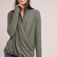 Brushed Fleece Wrap Top
