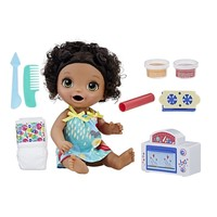 Baby Alive Interactive Talking Baby Doll Snackin Treats African American, Black