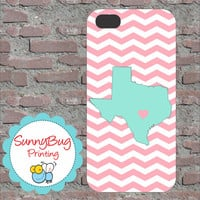 Custom State- TEXAS State Love Iphone 4, 4s, 5 and Samsung III Cases!