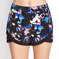 Abstract Floral Tulip Shorts