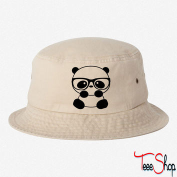 PANDA EMBROIDERY BUCKET HAT