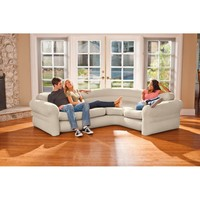 Intex Inflatable Corner Living Room Neutral Sectional Sofa | 68575EP