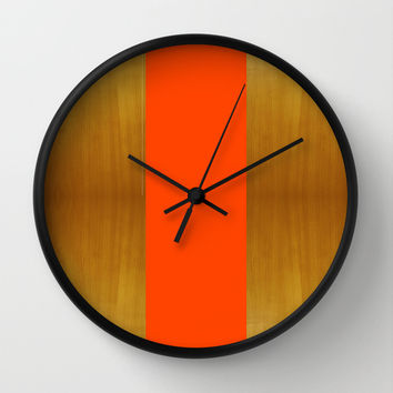Stripe and Wood Wall Clock by All Is One