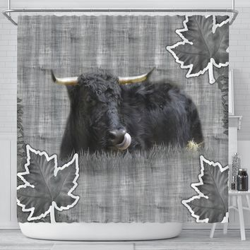 Welsh Black cattle (Cow) Print Shower Curtain-Free Shipping