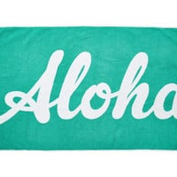 Edie Parker Aloha Beach Towel, Green, Beach Towels