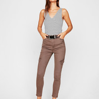 Super High Waisted Cargo Ankle Pant