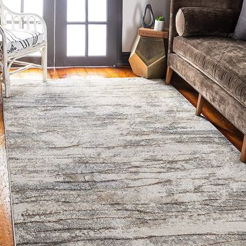 0144 Beige Over-Dyed Contemporary Area Rugs