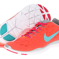 Nike Free TR Fit 3 Total Crimson/Metallic Silver/Pink Force/Sport Turquoise - Zappos.com Free Shipping BOTH Ways