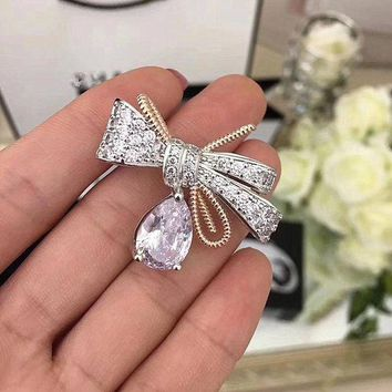 ac NOVQ2A Fashionable brooch pin bow boutonniere