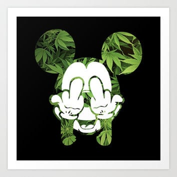 Mickey Weed III Art Print by Thomas Jarry
