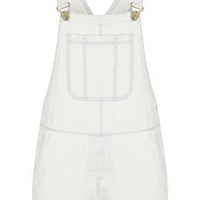 MOTO White Denim Dungaree - Rompers  - Clothing