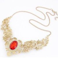 Stylish New Arrival Shiny Gift Jewelry Palace Gold Gemstone Necklace [6573103431]