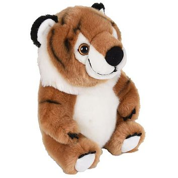 9 Inch Stuffed Tiger Plush Belly Buddies Animal Kingdom Collection