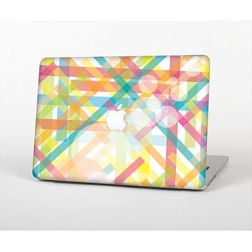 The Colorful Abstract Plaid Intersect Skin for the Apple MacBook Air 13""