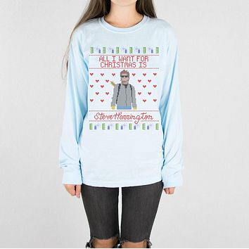 Steve Harrington Christmas Long Sleeve Tee