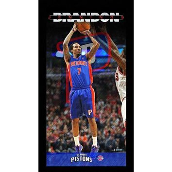 NOVO5 Brandon Jennings Detroit Pistons Player Profile Wall Art 9.5x19 Framed Photo