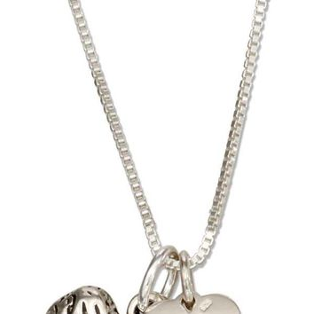 """Sterling Silver 18"""" Old English Sheepdog Necklace With Dog Paw Print Heart Pendant"""