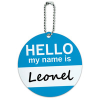 Leonel Hello My Name Is Round ID Card Luggage Tag