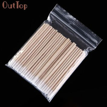 OutTop maquiagem  New 100pcs Disposable Makeup Cotton Pointed Swab Medical Cure Health Makeup Stick for Women Beauty Tools