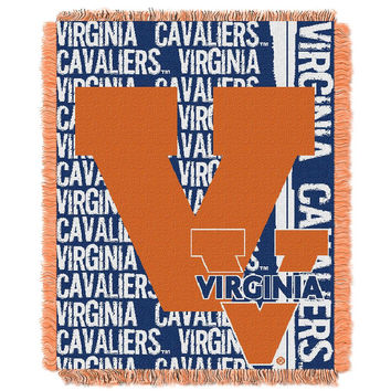 Virginia Cavaliers NCAA Triple Woven Jacquard Throw (Double Play Series) (48x60)