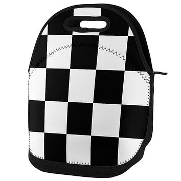 Finish Line Checkered Flag Lunch Tote Bag