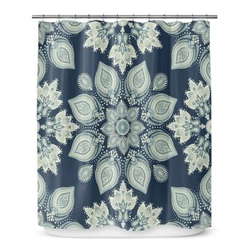 Shower Curtain Abstract floral_Vintage