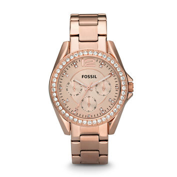 Riley Multifunction Stainless Steel Watch - Rose