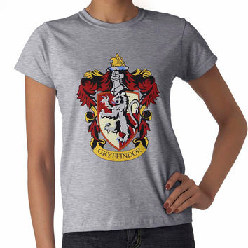 Gryffindor Crest on White or sport grey Women tee