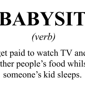 Babysitting Dictionary Definition T Shirt