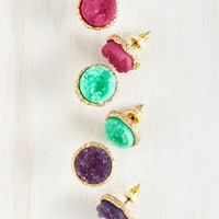 Return to Throne Earring Set in Rich Tones | Mod Retro Vintage Earrings | ModCloth.com