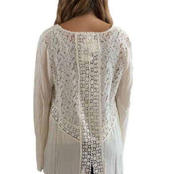 Ivory natural woven top