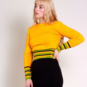 Dandelion Yellow Striped Sweater / S