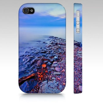 iPhone Case, iPhone 4/4S and 5, Samsung Galaxy S3 and S4, Last Light, Magical,  Lake Superior, Photography, Blue Sky Water, Serene