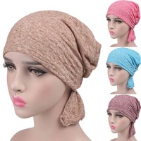 Women Cancer Chemo Hat Beanie Scarf Turban Head Wrap Cap summer Women Knitted Casual Cotton Hat Casquette gorras hombre