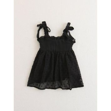 Kids Ruffle Detail Mesh Dress