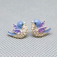 Blue Bird Earrings from Caitlin's Bowtique