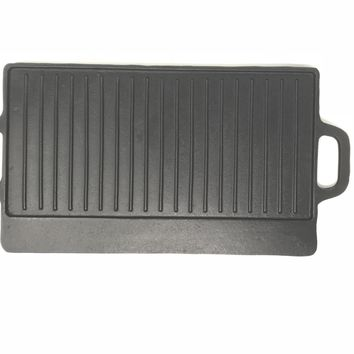 Cast Iron Reversible Rectangle Griddle