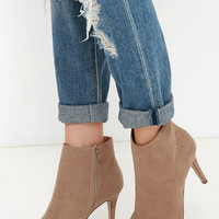 Perfect Ten Natural Suede Pointed Booties