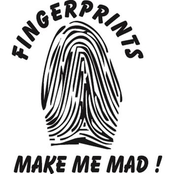15.8X13.7CM FINGERPRINTS MAKE ME MAD Funny Vinyl Decal Car Window Sticker Car-styling Accessories S8-0815