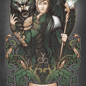 House of Loki: Sons of Mischief Art Print by Medusa Dollmaker